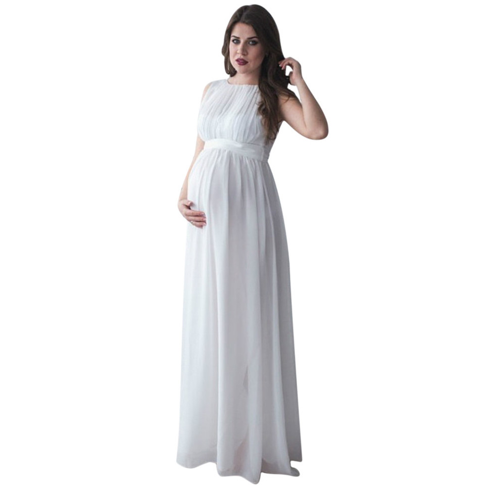 Womens Maternity Dress Photography Props Ladies Casual Boho Chic Tie Long Dress Wrap Maxi Cross V Neck Long Stretch Nursing Simple Nursing Nightgown Pregnant Party Evening with Adjustable Waist Tie
