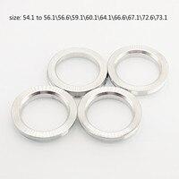 4 peças/lote anéis OD 54.1 a 56.156.659.160.164.166.667.172.673.1 Liga de Alumínio centro de Roda hub centric hub anel|Peças do eixo| |  -