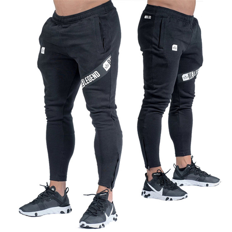 Men's High quality Brand Men pants Fitness Casual Elastic Pants bodybuilding clothing casual solid color sweatpants jogger pants