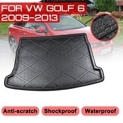Коврик для багажника автомобиля VW Golf 6 2009-2013, водонепроницаемые напольные коврики, коврик для защиты от грязи, поднос для груза