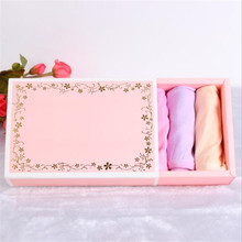20pcs Pink gift box packaging Socks underwear Gold Foil Wedding Box Gift Cardboard Drawer