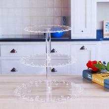 3 уровня прозрачная чашка торт стенд акриловые кекс стенд поставки Дисплей Башня Свадьба День Рождения Вечеринка украшения