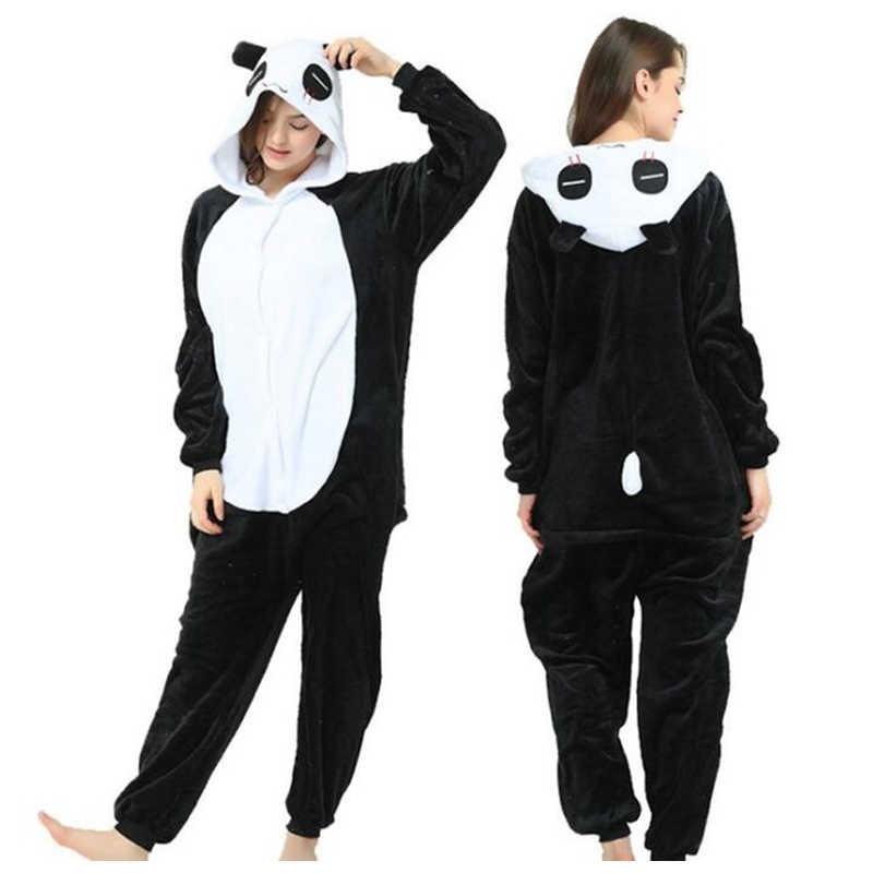 Panda Animal Adult Fu Panda Onesies Pajamas Flannel Red Panda Family Party Cosplay Costumes