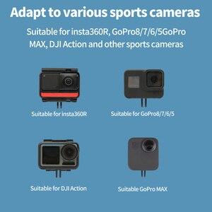 Image 5 - FEICHAO ذراع تمديد CNC من الألومنيوم لكاميرا Gopro Max 9 8 7 ، تمديد القطب لكاميرا Insta360 One R X Action
