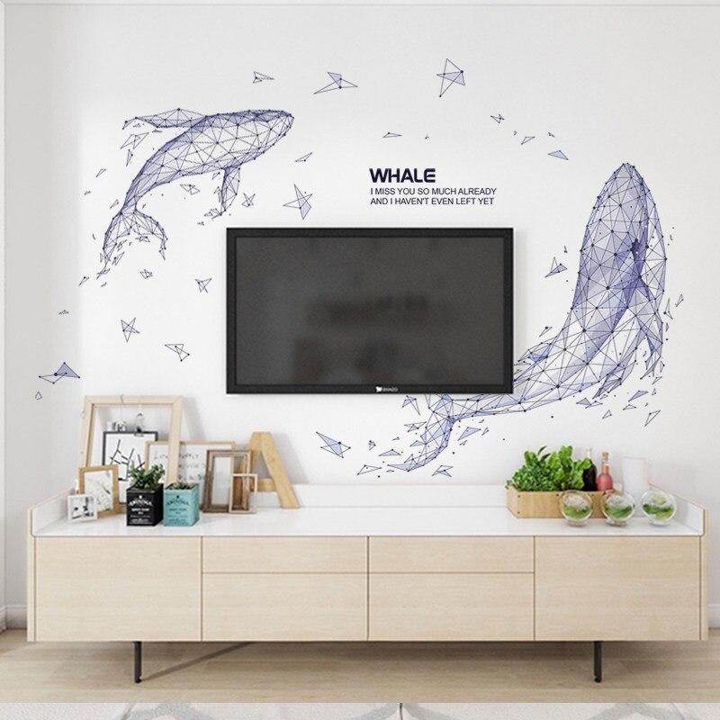 Украшения для стен в скандинавском стиле, креативные фрески в виде птицы из смолы для гостиной, миниатюрная фигурка животного, 3D наклейка, ф... - 2