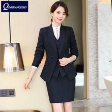 Женский офисный комплект из блейзера и брюк или юбки больше