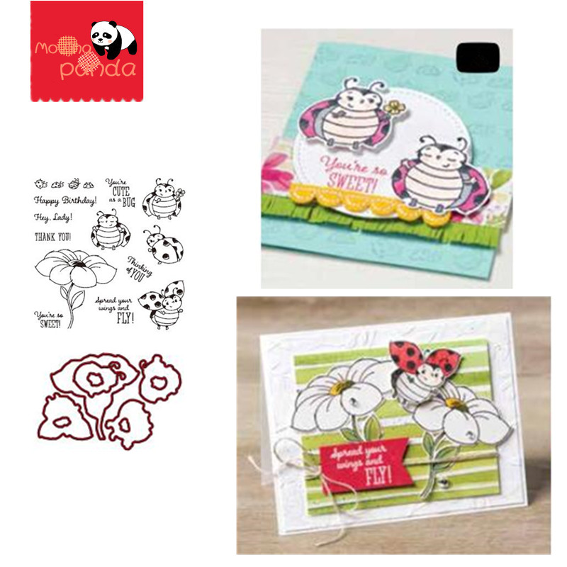 MP077 LITTLE LADYBUG Metal Cutting Dies And Stamps Stencils For DIY Scrapbooking Album Stamp Paper Card Embossing New 2019