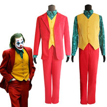 2019 Nieuwe Joker Arthur Fleck Cosplay Kostuum Joaquin Pheonix Rood Pak Batman Anti-hero Fancy Dress Halloween Carnaval Kostuum(China)