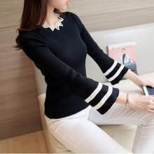 Retro 2020autumn winter pull femme blusa tricot sexy women's knitting sweater female long sleeve ladies slim jumper tops S610(China)