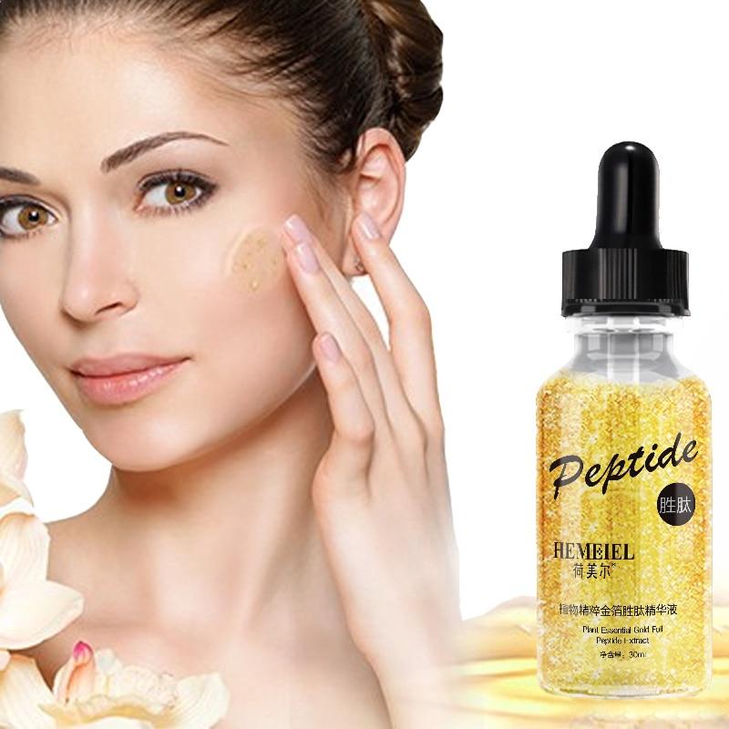 HEMEIEL 24k Gold Anti-Aging Serum Face Hyaluronic Acid Serum Anti-Wrinkle Essence Whitening Moisturizing Korean Skin Care 30ml