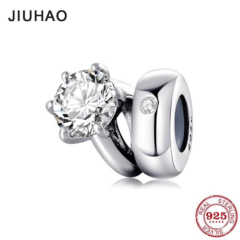 Charms Jewelry Round-Beads Ring-Shape Bracelets-Making Shining 925-Sterling-Silver Original Pandora