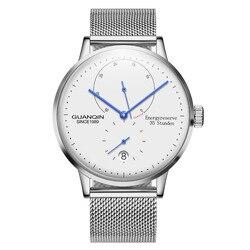 GUANQIN Leuchtende Mechanische Business Watch Automatische Männer Top Marke Luxus edelstahl Handgelenk Herren Uhren Gold Uhr
