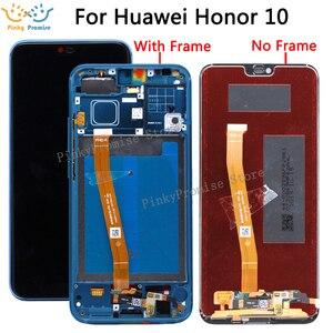 Image 1 - Dla HUAWEI Honor 10 wyświetlacz rama ekranu dotykowego dla Huawei Honor 10 wyświetlacz LCD na Col L29