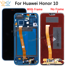 HUAWEI onur 10 için ekran dokunmatik ekran çerçevesi Huawei onur 10 için lcd ekran üzerinde Col L29