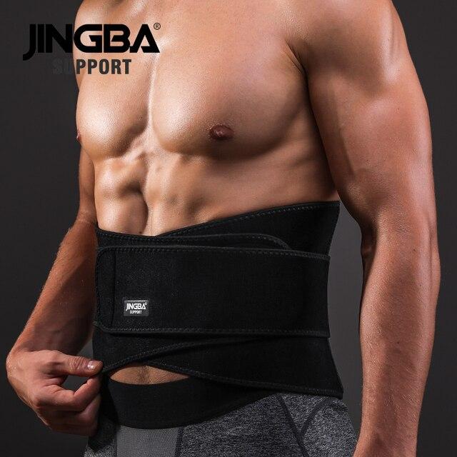 JINGBA SUPPORT Weightlifting Back Support bar Protective gear Sport waist support belt Neoprene waist trimmer fitness sweat belt 3