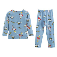 Pajamas Underwear Baby-Girls Bedroom Spring Home Cotton Suit Long-Sleeved-Trouser Warm