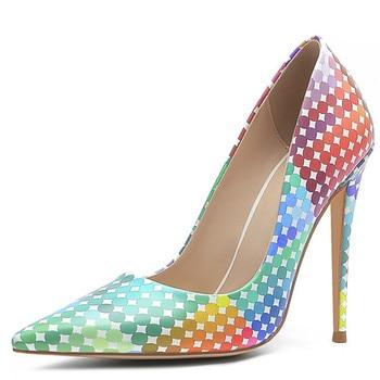 YECHNE women High heels Women's shoes Bridal pumps White Sexy Stiletto Plus Size Fashion Sexy Party Punch pumps
