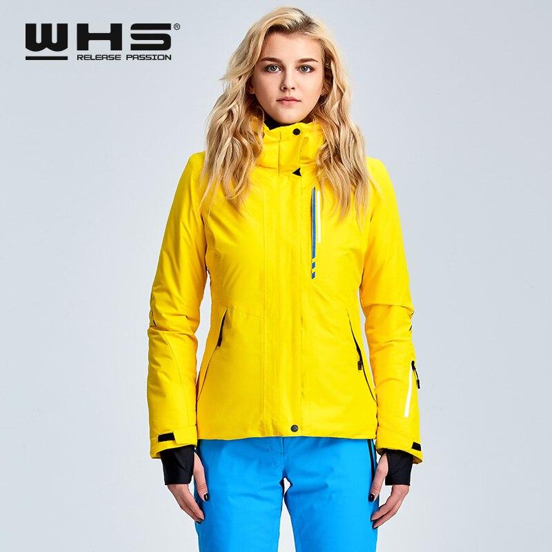 WHS veste de ski pour femmes veste thermique de sports de plein air d'hiver imperméable, coupe-vent et respirant veste en coton - 2