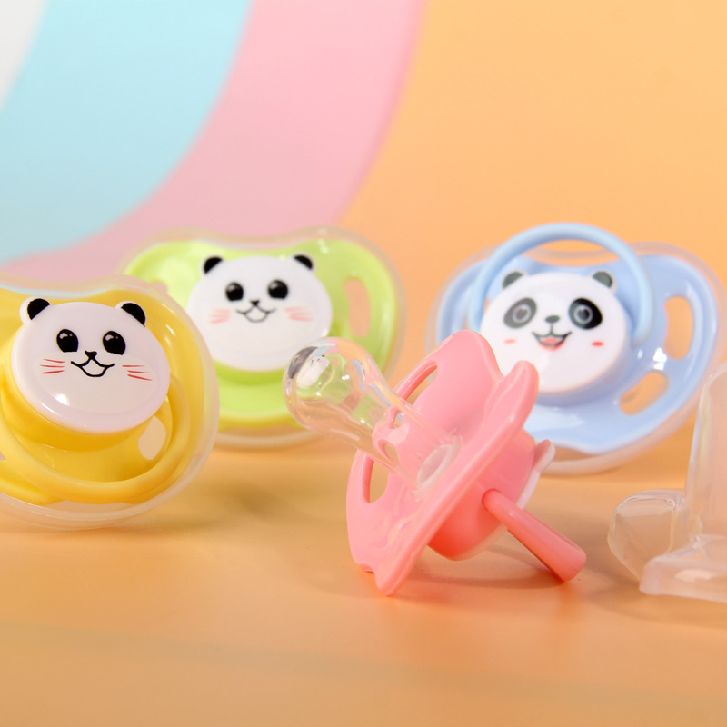 Baby Cartoon Pacifier Baby Silicone Pacifier Breast Milk Round Head Baby Pacifier Dummy Nipples Sleeping Pacifier AXA040