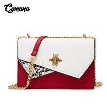 Crossbody Bags For Women 2019 Luxury Snakeskin pattern Chain Female Handbags Temperament Shoulder Bag Small Square