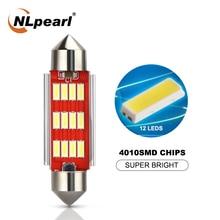 цена на NLpearl 2x Signal Lamp 12V 5W 4014 SMD C5W Led Canbus Bulb Festoon Led 31mm 36mm 39mm 41mm Car Interior Dome Light Reading Light