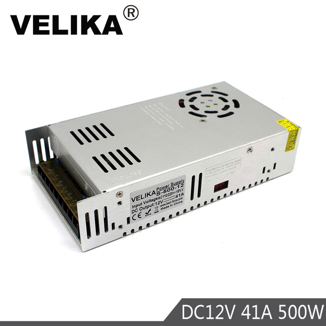 אחת פלט 12V 24V 36V 48V 500W ספק כוח שנאי 110V 220V AC כדי DC מקור כוח נהג עבור Led אור CCTV צעד