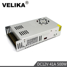 Single Output 12V 24V 36V 48V 500W Power Supply Transformers 110V 220V AC to DC Power Source Driver For Led Light CCTV Stepper