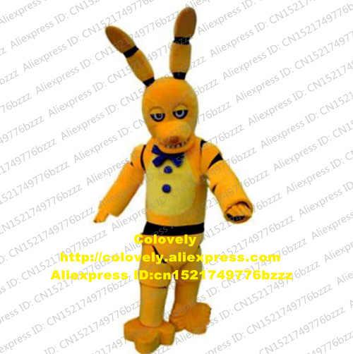 Lima Malam Di Freddy FNAF Mainan Menyeramkan Kuning Bunny Maskot Kostum Dewasa Menikah Pernikahan Taman Hiburan CX028 Gratis Shiping