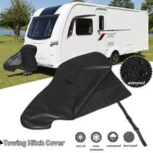 Universal Waterproof Caravan Towing Hitch Cover Trailer Rain Snow Dust Protecter цена