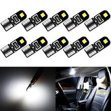 Lâmpada led canbus para carro, lâmpada canbus t10 w5w, luz 194 168 para toyota rav4 yaris corolla avensis prius c interior lâmpada 6000k branca 12v
