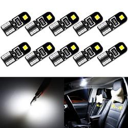 10x T10 W5W LED Canbus Light Bulbs for Audi BMW VW Mercedes Car Interior Dome Light Trunk Lamp Parking Lights Error Free 12V