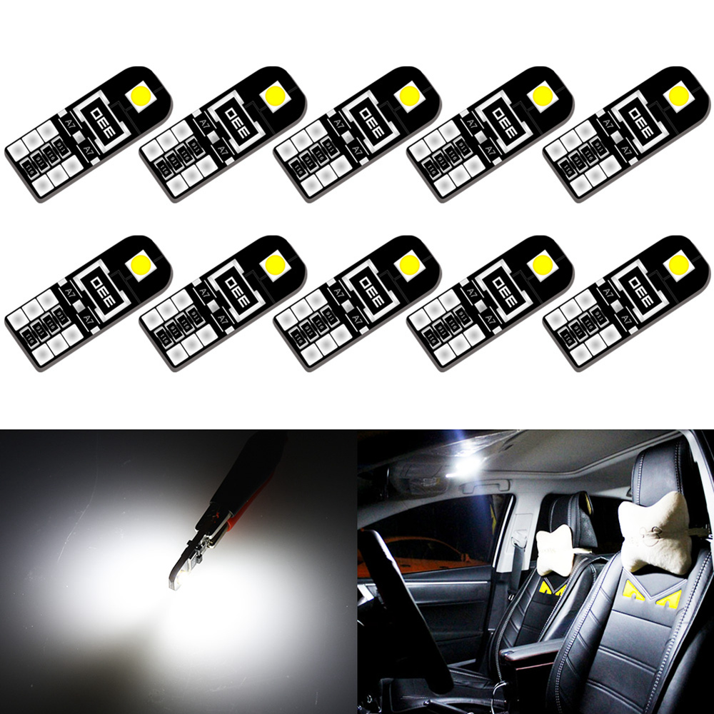 10x T10 W5W LED Car Canbus Bulb 194 led for Peugeot 206 406 508 307 406 3008 Accessories Interior Dome Light Reading Lights