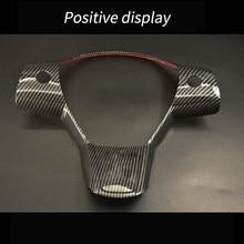 Adequado para model3 volante decoração botão adesivos interior modificação volante proteção integrada adesivo