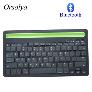 Image 1 - Bluetooth MIni Keyboard With Phone Holder Wireless Keyboard For Tablet/Laptop/phone,Compatible with IOS/Windows/Android