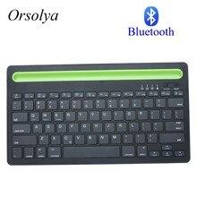 Bluetooth מיני מקלדת עם מחזיק טלפון אלחוטי מקלדת עבור Tablet/מחשב נייד/טלפון, תואם עם IOS/Windows/אנדרואיד