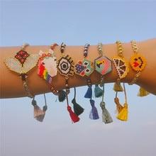 2019 New Unicorn Owl Beads Bracelet for Women Children Cute Animal Evil Eye Handmade Tassel Bracelets Boho Charm Jewelry Gifts цена