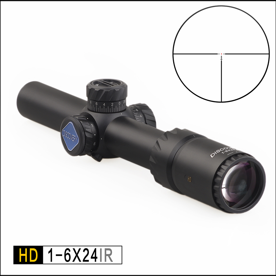Discovery Hunting Riflescope Tactical optical sight HD 1-6X24IR Long Eye Relief Crosshair lighting Rifle Scope fit 308 AR15 image