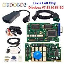 V9.68 lexia 3 chip completo 921815c diagbox v7.83 para citroen/peugeot lexi3 pp2000 v48/v25 lexia-3 ferramenta de diagnóstico 12 relés dos pces