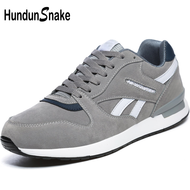 Hundunsnake Leather Grey Woman Sport Sneakers Women Sport Shoes Women's Sports Shoes Men Running Shoes Woman Trainers Walk T620