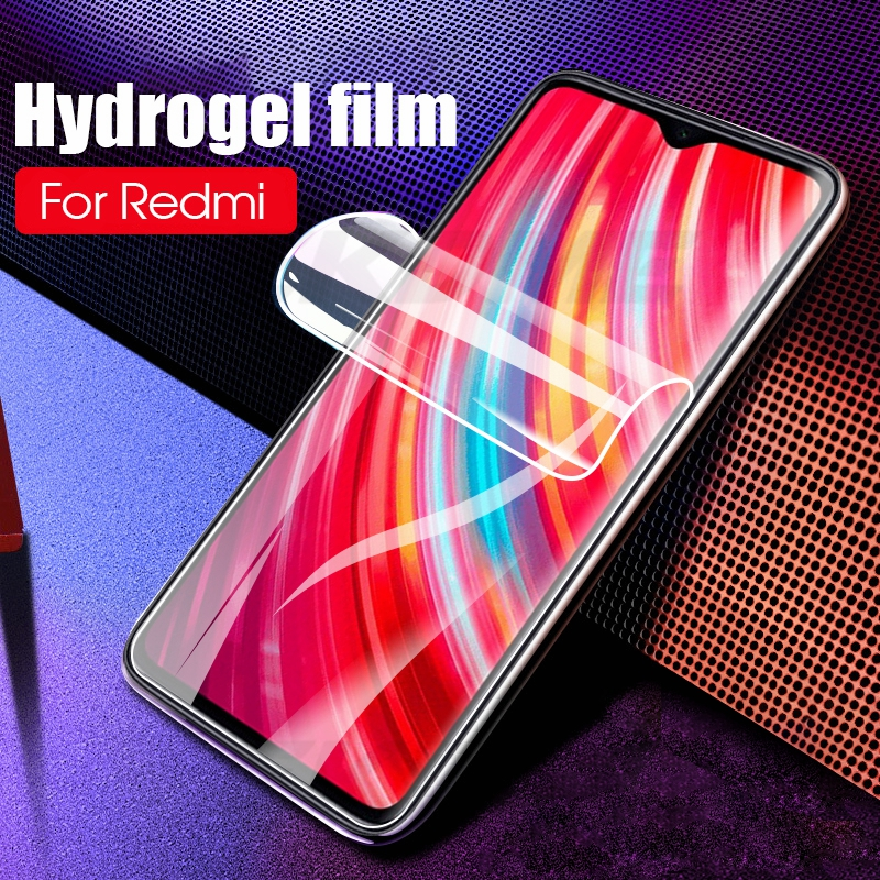 <font><b>Hydrogel</b></font> Film For Xiaomi <font><b>Redmi</b></font> <font><b>8</b></font> 7 Note <font><b>8</b></font> 7 Pro Note 7 Front Screen Protectors For Xiaomi Mi9 Mi8 Lite Mi6X Mix3 Ultra-thin Film image