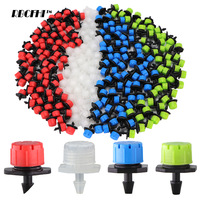 50-800PCS Garden Adjustable Nozzles Drip Irrigation Watering Sprinkler 1/4\'\' Anti-Clogging Dripper Emitter Flower Beds Vegetable