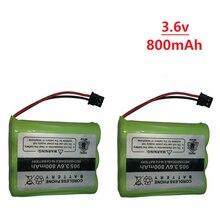 3,6 v 800mAh для Uniden BT-905 BT905 BT-800 BT800 BT15 T101 беспроводной телефон Батарея 800 мА/ч, 2.88Wh 3,6 аккумуляторы Ni-CD Ni Перезаряжаемые Батарея