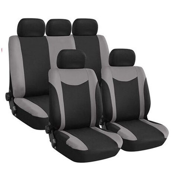 Universal Car Seat Covers Front Rear Head Rests Full Set Auto Seat Cover Fit for Hyundai Sonata Elantra Genesis BMW Toyota Honda image