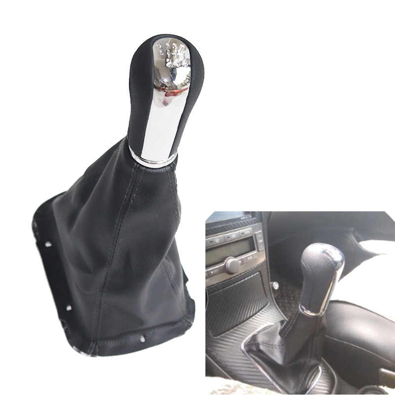 HTSM For Toyota Avensis T25 MK2 II 2003 2004 2005 2006 2007 2008 2009 PU Leather Car Gear Gaiter Boot Cover Gear Shift Gaitor Boot car interior