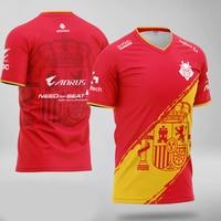 Top quality 1:1 G2 Spain Jersey Customized name Fans Tshirt Men Women Custom ID Tee Shirt Homme