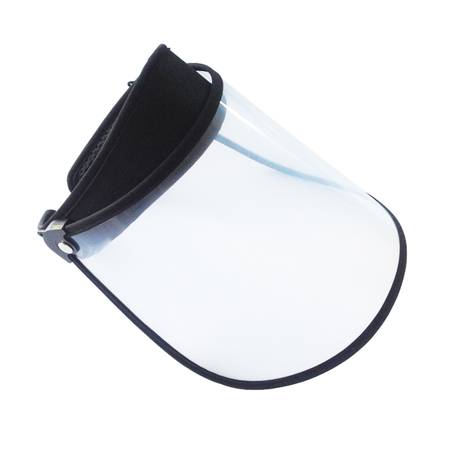 Summer Outdoor Sun Hat Men Women Saliva-proof Visor Caps Dustproof Empty Top PVC Face Shield Wide Brim Sports Sunhat Face Guard 4