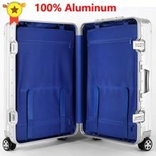 Trolley-Bag Travel-Suitcase On-Wheel Aluminium Spinner Business LEINASEN 20-24-29--Inch
