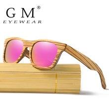 Брендовые зеркальные очки gm натуральные ручной работы деревянные