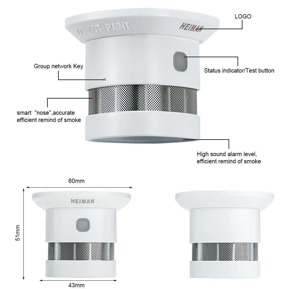היימן Zigbee 3.0 אש מעורר עשן גלאי חכם בית מערכת 2.4GHz רגישות גבוהה בטיחות מניעת חיישן משלוח חינם