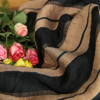 New Autumn Products fabric Linen Design Sensitive Stripe Dyeing tissu High end dress skirt material